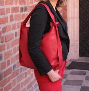 08f12a6de22ff Torebka   plecak skórzany WuKaDor W902 czerwony